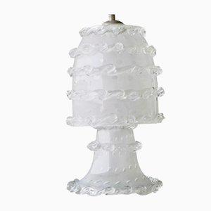 Lámpara de mesa italiana Art Déco de cristal de Murano de Barovier, años 30