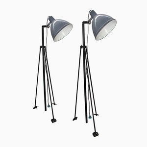 Vintage Army Floor Lamp from A. Pierazzoni