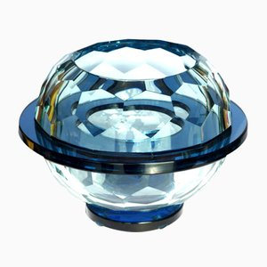 Italian Diamond Glass Bowl, 1960s