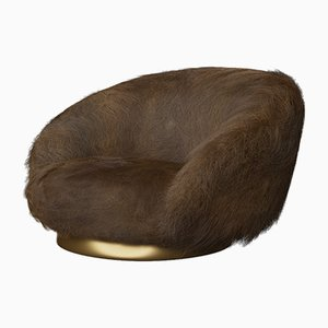 Elf Lounge Chair in Angora Brown by Studio SORS