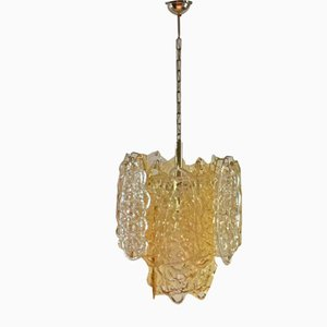 Vintage Spun Sugar Chandelier from Mazzega