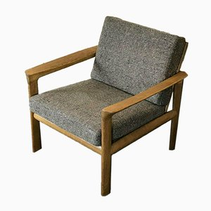 Danish Oak Easy Chair by Arne Wahl Iversen for Comfort, 1960s