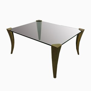 Brutalist Bronze Coffee Table by Peter Ghyczy , 1960s