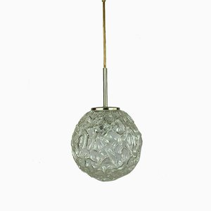 Space Age Glass Globe Ceiling Lamp from Hillebrand, 1960s