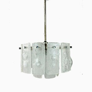 Space Age Glass Chandelier, 1960s