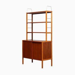 Teak, Oak & Brass Bookcase by Bertil Fridhagen for Bodafors, Sweden, 1960s