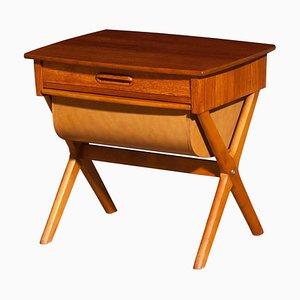Teak Sewing Side Table, Sweden, 1960s