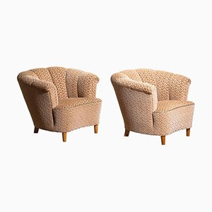 Shell Back Cocktail Club Chairs, Sweden, 1940s, Set of 2