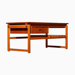 Teak Coffee Side Table with Drawer, Denmark, 1970s
