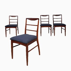 Mid-Century Danish Teak Dining Chairs by Vanson for Heals, Set of 4