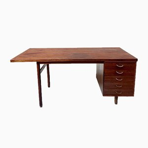 Large Mid-Century Danish Rosewood Executive Pedestal Desk