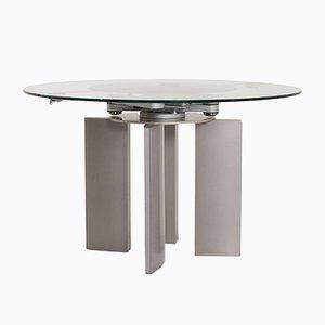 Glass and Metal K / G 750 / E Extendable Dining Table from Ronald Schmitt