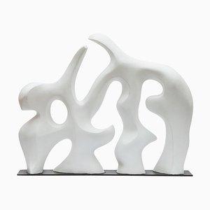 Weiße Mid-Century Skulptur, 1980er