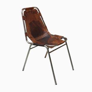 Chaise de Bureau Les Arcs en Cuir par Charlotte Perriand, 1970s