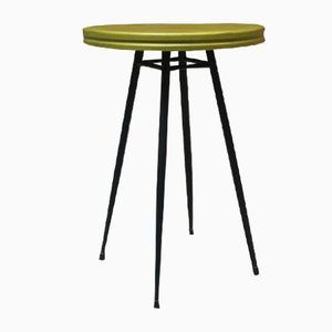 Small Mid-Century Italian Bar Table with Round Green Top from Sala Liutaio, 1950s