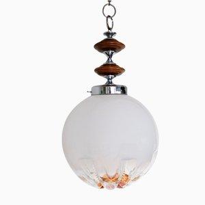 Vintage Deckenlampe aus Muranoglas in Kugelform von Mazzega