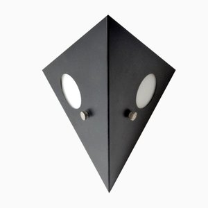 Mid-Century Dutch Black Metal Night Owl Sconce from Raak, 1960s