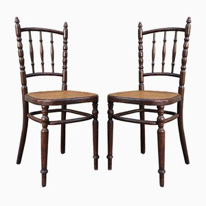 Czechoslovak Bistro Chairs from Fischel, 1920s, Set of 2