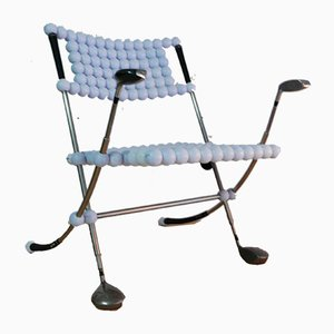 Vintage Golf Ball and Golf Club Chair from Frank Oelke, 1990s