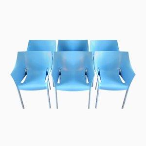 Vintage Model Dr. No Armchairs by Philippe Starck for Kartell, 1990s, Set of 6