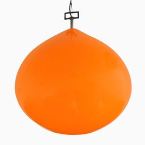 Large Mid-Century Orange Model Onion Pendant Lamp by Alessandro Pianon for Vistosi