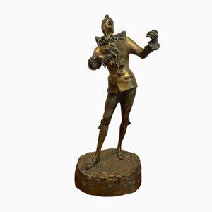 Escultura Menestrello Art Déco de L.Masere, años 30
