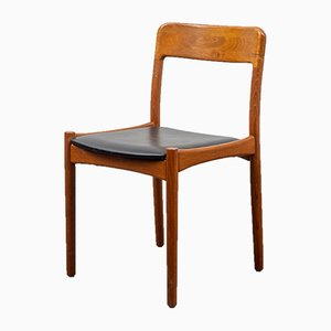 Scandinavian Style Teak Dining Chairs, 1960s, Set of 6