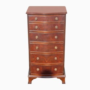Mahogany Serpentine Chest of 6-Drawers, 1960s
