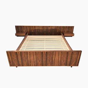 Mid-Century Danish Rosewood Floating Bed from Sannemans Møbelfabrik, 1960s