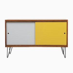 Mid-Century Walnut Sideboard with Reversible Doors, 1960s