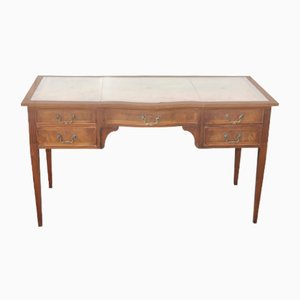 Mahogany Serpentine Desk with Slides, 1960s