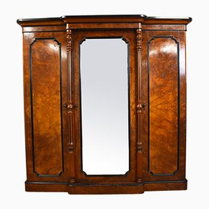 Antique Victorian Burl Walnut Wardrobe