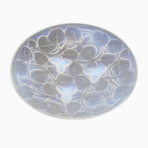 Art Deco Opaline Glass Bowl, 1930s