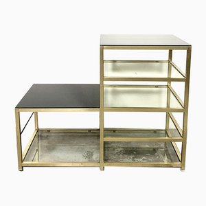 Vintage Brass and Glass Shelf