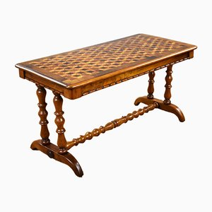 Victorian Walnut Parquetry Coffee Table