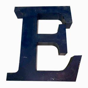 Panneau Lettre E Vintage en Métal