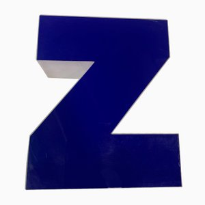 Panneau Lettre Z Vintage en Plexiglas