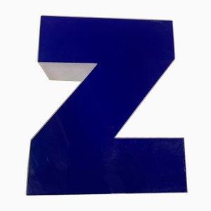 Vintage Plexiglas Buchstabe Z Schild