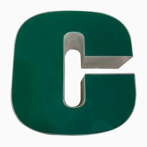 Panneau Lettre C Vintage en Plexiglas