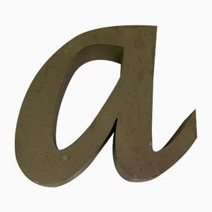 Panneau Lettre A Vintage en Métal