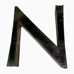 Panneau Lettre N Vintage en Métal