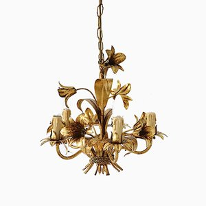 Vintage Golden Chandelier from Hans Kögl, 1960s