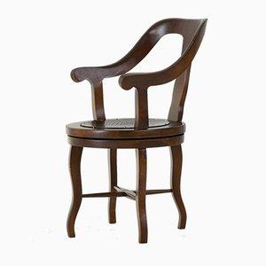 Chaise de Barbier Pivotante Vintage, 1930s