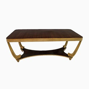 Italian Walnut and Maple Dining Table Attributed to Pier Luigi Colli, 1940s