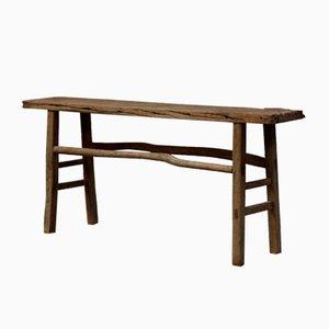Antique Elm Console Table