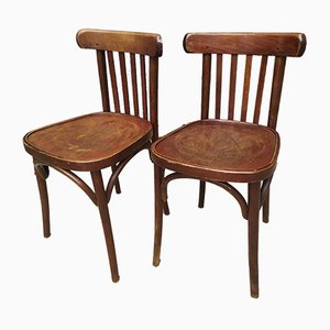 Bistro Chairs, 1920s, Set of 6
