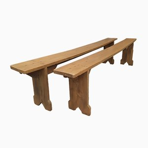 Antique Benches, Set of 2