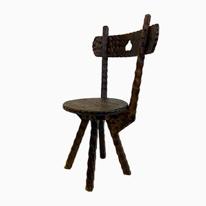 Antique Rustic Side Chairs, Set of 3