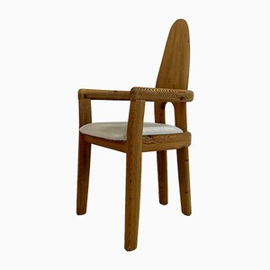 Swedish Solid Pinewood Dining Chairs, 1970s, Set of 5