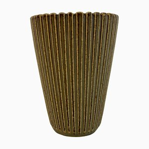Danish Stoneware Vase by Arne Bang, 1940s